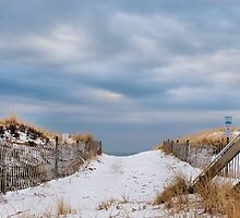 Snowy Beach by MLGrenier
