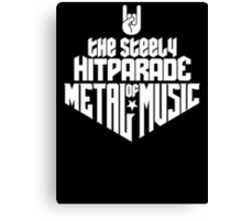 The steely Hitparade of Metal Music 1 (white) Canvas Print