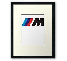 ///M pixel logo - black Framed Print
