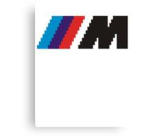 ///M pixel logo - black Canvas Print