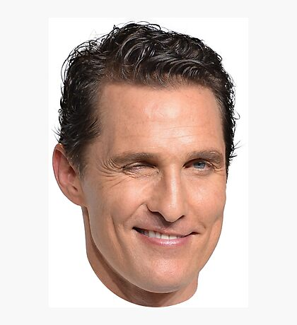 Matthew McConaughey's Head Photographic Print