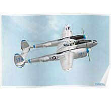 John Edgar Purdy's Lockheed P-38 Lightning Poster