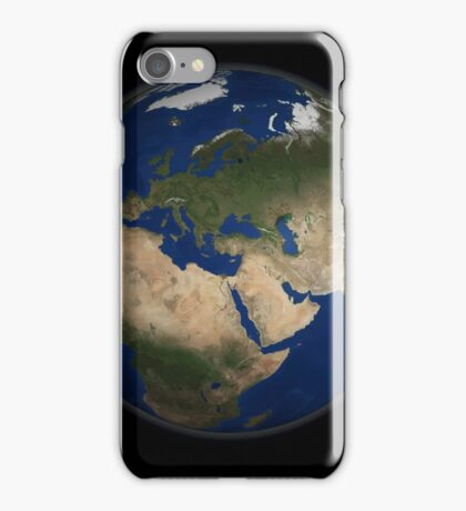 Full Earth view showing Africa, Europe, the Middle East, and India. iPhone Case/Skin
