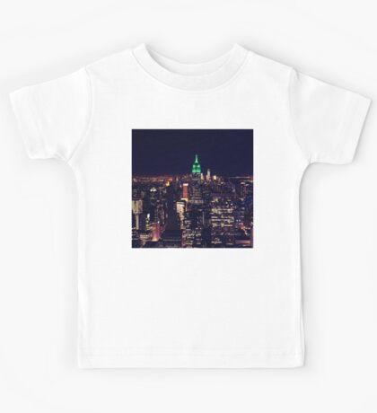 New York night skyline Kids Tee