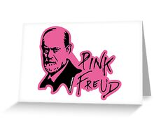 PINK FREUD PSYCHOANALYSIS Greeting Card