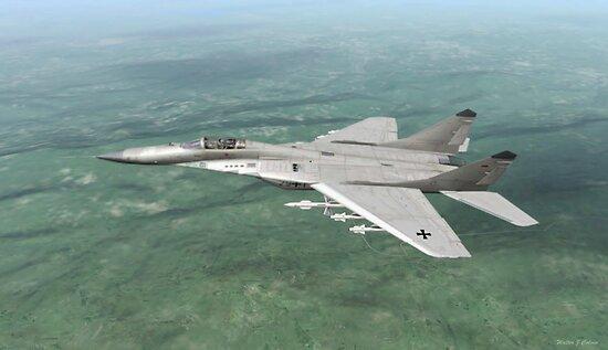 German Ikoyan MiG-29a ( Fulcrum ) by Walter Colvin