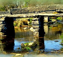 Clapper Bridge by Charmiene Maxwell-Batten