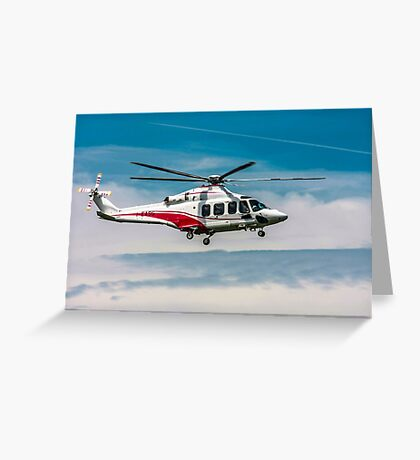 Privately owned Agusta A109E Power helicopter I-EASG Greeting Card
