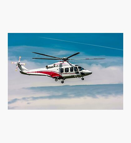 Privately owned Agusta A109E Power helicopter I-EASG Photographic Print