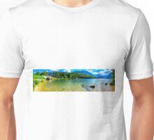 Panoramic of Lake Bohinj in Slovenia Unisex T-Shirt