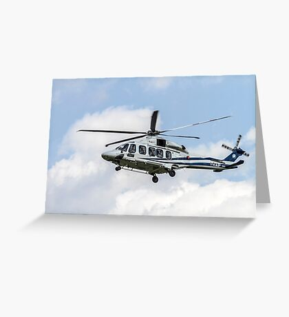 Agusta-Westland AW-139 helicopter Photographed in Italy Greeting Card