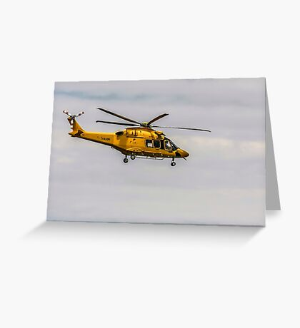 Privately owned agustawestland AW189 helicopter Photographed in Italy Greeting Card