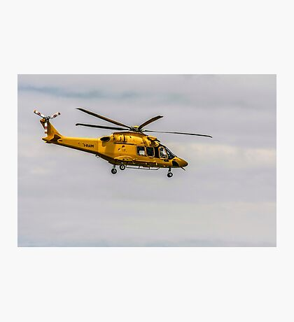 Privately owned agustawestland AW189 helicopter Photographed in Italy Photographic Print
