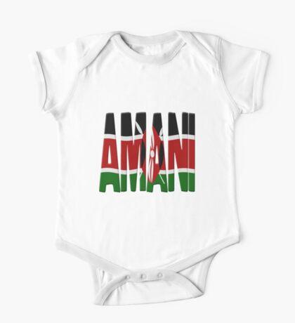 Amani - Kenya flag One Piece - Short Sleeve