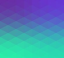 polygons pattern blue green by alexandr-az