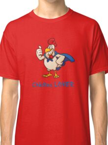 Rooster Chicken Lover, funny adult humor. Classic T-Shirt