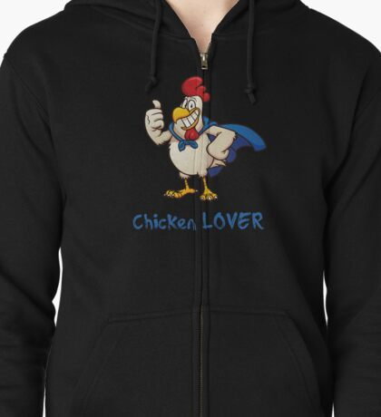 Rooster Chicken Lover, funny adult humor. Zipped Hoodie