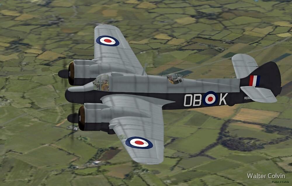 Bristol Beaufighter. (Whispering Death) by Walter Colvin