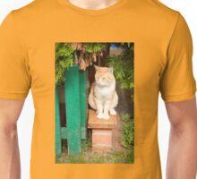 stray waif red cat sitting Unisex T-Shirt
