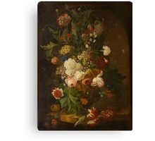 GERMAN SCHOOL, LATE 18TH CENTURY A large floral still-life. Canvas Print