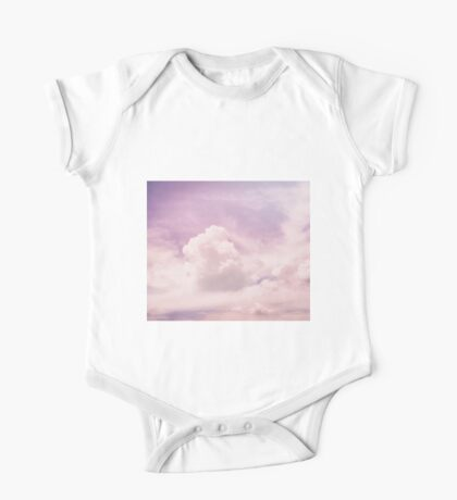 Pink fluffy clouds One Piece - Short Sleeve