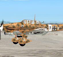 Junkers Ju 87  (stuka dive bomber) by Walter Colvin