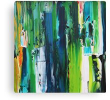 stripe blue and green Canvas Print