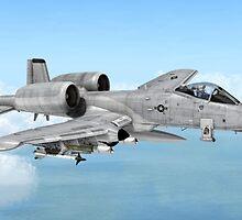 A-10 Thunderbolt  by Walter Colvin