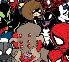 Spidey across time and space Sticker