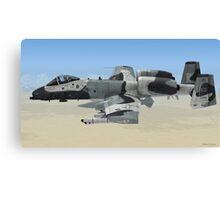 The Fairchild Republic A-10 Thunderbolt II Canvas Print
