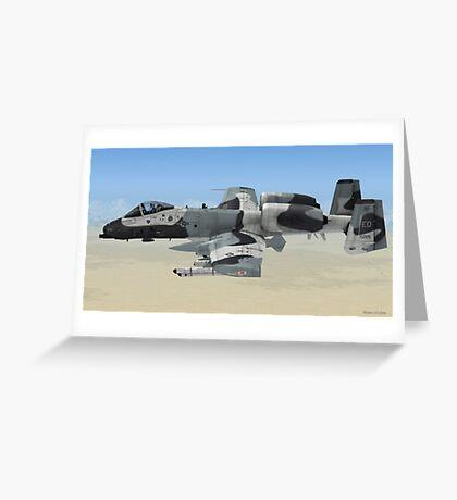 The Fairchild Republic A-10 Thunderbolt II Greeting Card