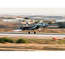 Israeli Air force F-15I Fighter jet at takeoff  Photographic Print