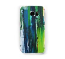 stripe blue and green Samsung Galaxy Case/Skin