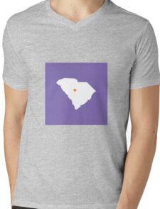 South Carolina Love Mens V-Neck T-Shirt