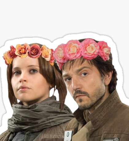jyn erso and cassian andor Sticker