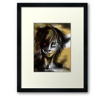 INSIDE the monster... Framed Print