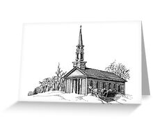 New England Snow Scene Greeting Card