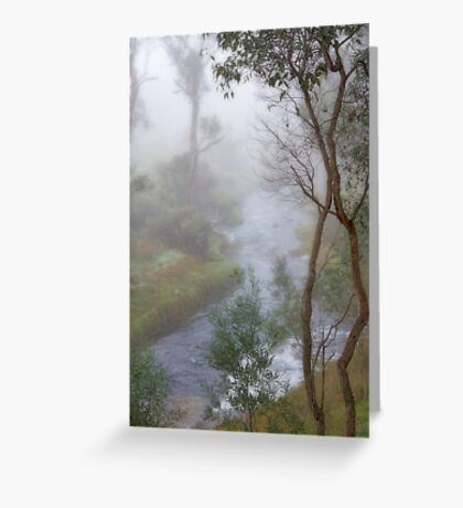 A Misty Morning in Bridgetown, Western Australia Greeting Card