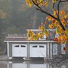 Boathouse in the Fall by Keeawe