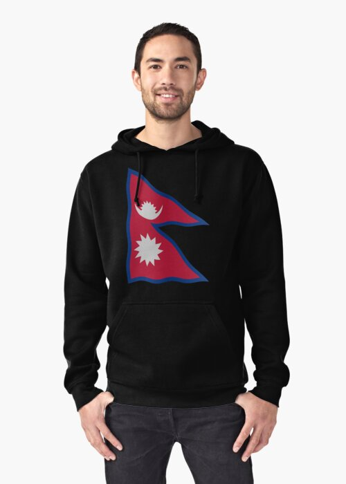 Nepal flag by stuwdamdorp