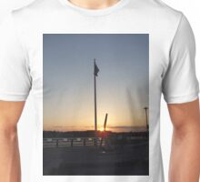 sunset at the stonington town dock Unisex T-Shirt