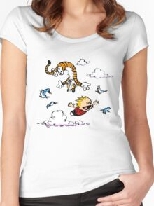 Calvin  Hobbes Women's Fitted Scoop T-Shirt