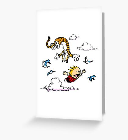 Calvin  Hobbes Greeting Card