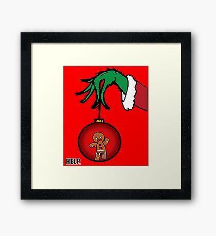 Merry Christmas - Zenzy&Grinch Framed Print
