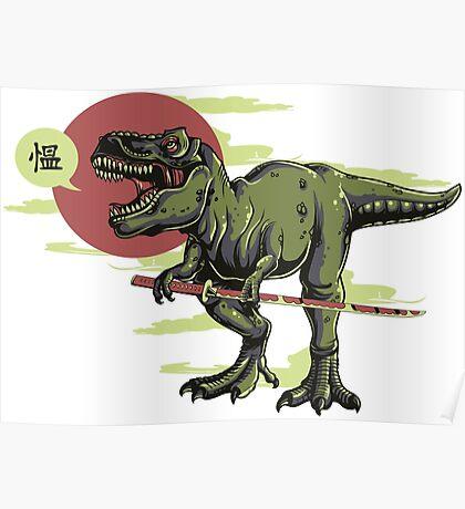 Japanese T-Rex Poster