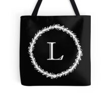 Monochrome Monogram L Tote Bag