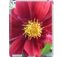 red flower blossom iPad Case/Skin