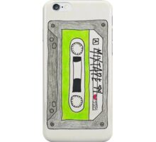 Vertical green mixtape iPhone Case/Skin