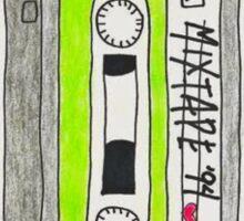 Vertical green mixtape Sticker