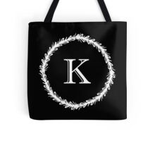 Monochrome Monogram K Tote Bag